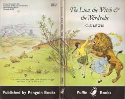 The Lion, The Witch and The Wardrobe by C S Lewis cover art by Pauline Baynes Puffin books