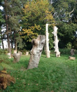 Wood Henge, Herstmonceux Castle Gardens, East Sussex